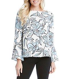 Karen Kane® Floral Flare Sleeve Top