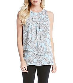 Karen Kane® Pleated Asymmetric Top