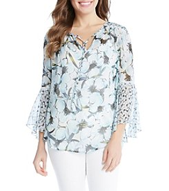 Karen Kane® Floral Shirtail Top