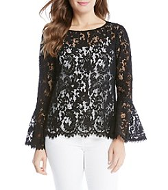 Karen Kane® Lace Bell Sleeve Top