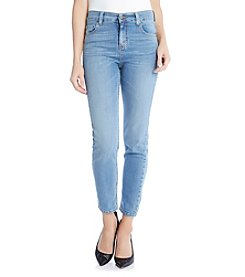 Karen Kane® Stone Wash Skinny Jeans