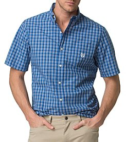 Chaps® Men's Short Sleeve Easy Care Wovens Classic Plaid Button Down