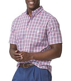 Chaps® Men's Short Sleeve Easycare Woven Checkered Button Down
