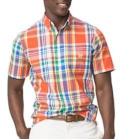 Chaps® Men's Short Sleeve Woven Beacon Plaid Button Down