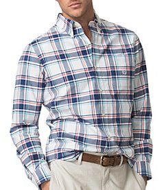 Chaps® Men's Long Sleeve Stretch Large Plaid Woven