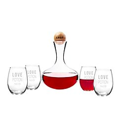 Cathy's Concepts Love Potion Wine Decanter & Glass Set