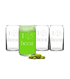 Cathy's Concepts Set of 4 St. Patrick's Day Beer Can Glasses
