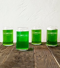 Cathy's Concepts Set of 4 St. Patrick's Day Shenanigans 16-oz. Beer Can Glasses