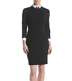 Ivanka Trump® Peter Pan Collar Lace Dress