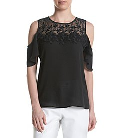 Ivanka Trump® Cold Shoulder Lace Blouse