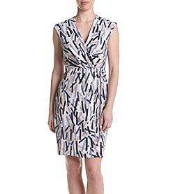 Anne Klein® Printed Draped Dress