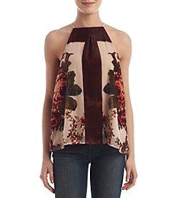 Skylar & Jade™ Floral Velvet Top