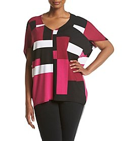 Jones New York® Plus Size Block Print Top