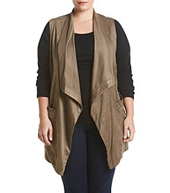 Jones New York® Plus Size Draped Collar Vest