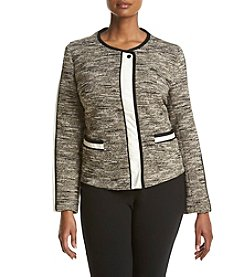 Jones New York® Plus Size Statement Tweed Moto Jacket