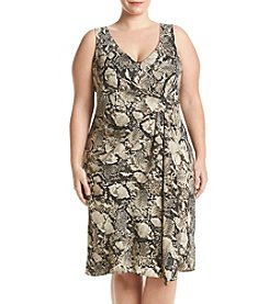 Jones New York® Plus Size Viper Printed Dress