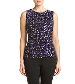 Calvin Klein Petites' Leopard Pleated Cami