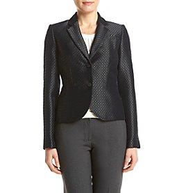 Calvin Klein Petites' Jacquard Dot Jacket