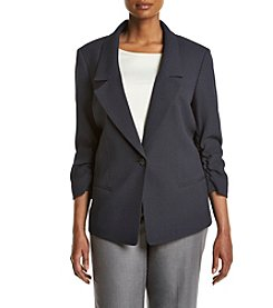 Jones New York® Plus Size Herringbone Jacquard Boyfriend Blazer