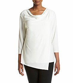 Jones New York® Plus Size Crepe Drape Front Top