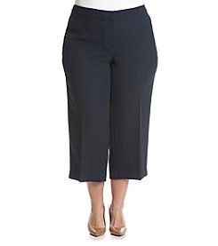 Jones New York® Plus Size Herringbone Jacquard Wide Leg Pants