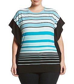 MICHAEL Michael Kors® Plus Size Stripe Border Knit Top