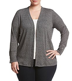 MICHAEL Michael Kors® Plus Size Marled Open Cardigan