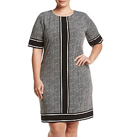 MICHAEL Michael Kors® Plus Size Stingray Border Print Dress