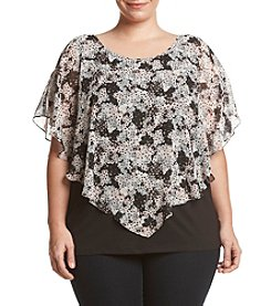 AGB® Plus Size Popover Woven Top