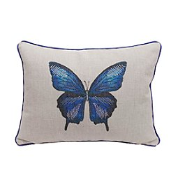 LivingQuarters English Garden Butterfly Pillow