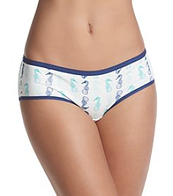 Relativity® Plus Size Seahorse Print Hipster Panty