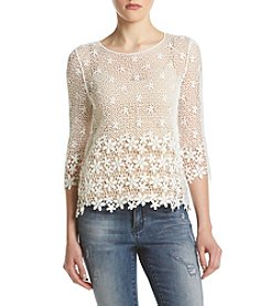 Sequin Hearts® Crochet Lace Top