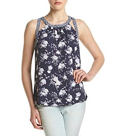 Sequin Hearts® Floral Tank