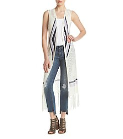 Sequin Hearts® Fringe Hem Sweater Vest