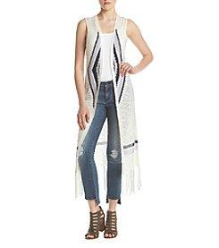 Sequin Hearts® Fringe Hem Sweater Vest