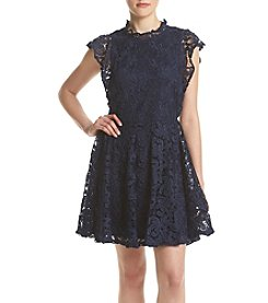 Sequin Hearts® Crochet Fit And Flare Dress