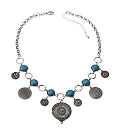 Ruff Hewn Disc Drop Frontal Necklace