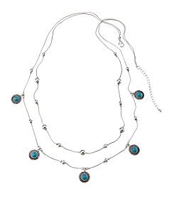Ruff Hewn Two Row Beaded Necklace