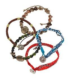 Ruff Hewn Five Cord Bracelet Set