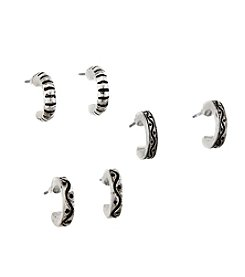 Studio Works® Half Hoop Earrings Trio