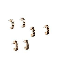 Studio Works® Half Hoop Earrings Trio