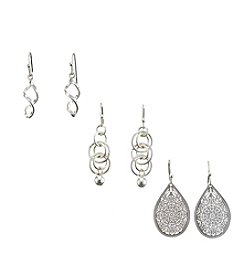 Studio Works® Trio Drop Earrings