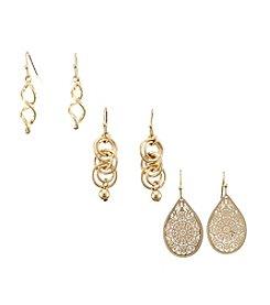Studio Works® Trio Drop Earrings
