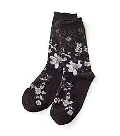HUE® Femme Floral Top Socks