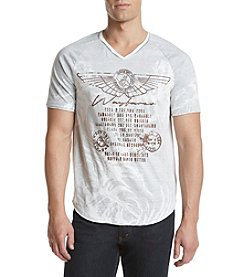 Buffalo by David Bitton Men's Tabar V-Neck Printed Tee