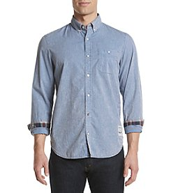 Buffalo by David Bitton Men's Savino Long Sleeve Stripe Woven Shirt