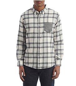 RETROFIT® Men's Mock Twist Plaid Long Sleeve Shirt