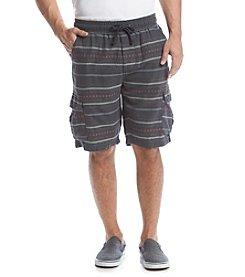 Ruff Hewn Men's Pattern Comfort Waist Cargo Shorts