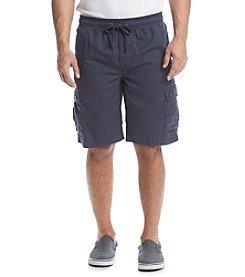 Ruff Hewn Men's Solid Comfort Waist Cargo Shorts