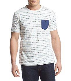 Ruff Hewn Men's Short Sleeve Printed Stripe Pocket Tee